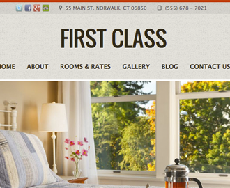 First Class Hotel Website Template